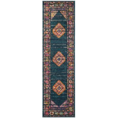 Safavieh Madison Blue Fuchsia 2 Ft 3 In X 12 Ft Runner Rug Mad133c 212 Rug Runner Traditional Area Rugs Rugs