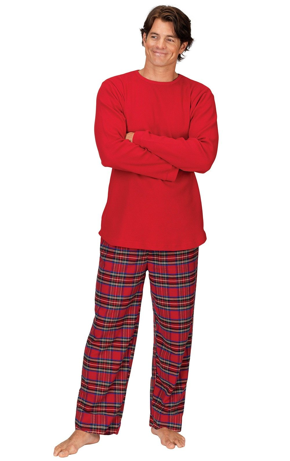 Stewart Plaid ThermalTop Men's Pajamas Mens flannel