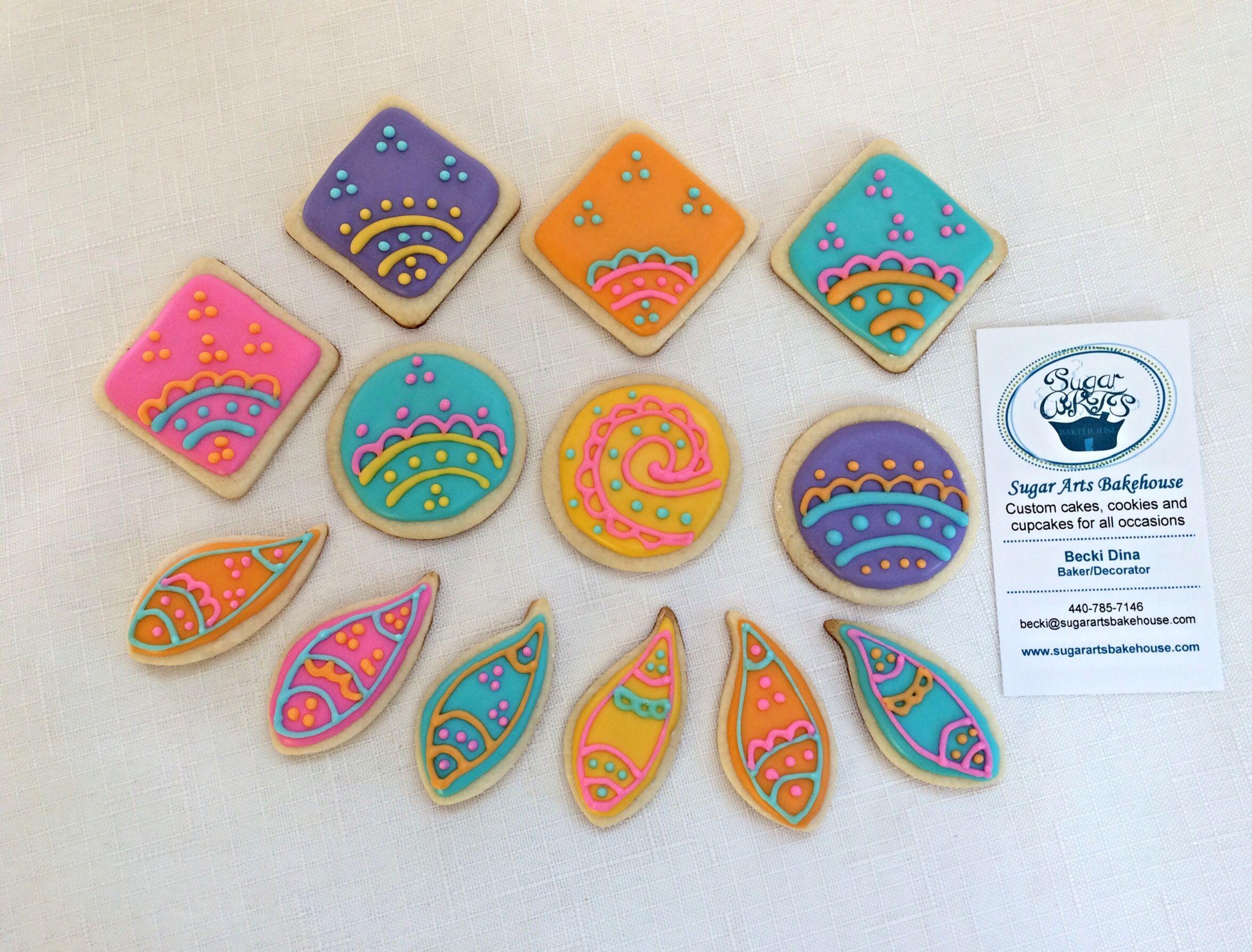 Mini sugar cookies, Diwali themed