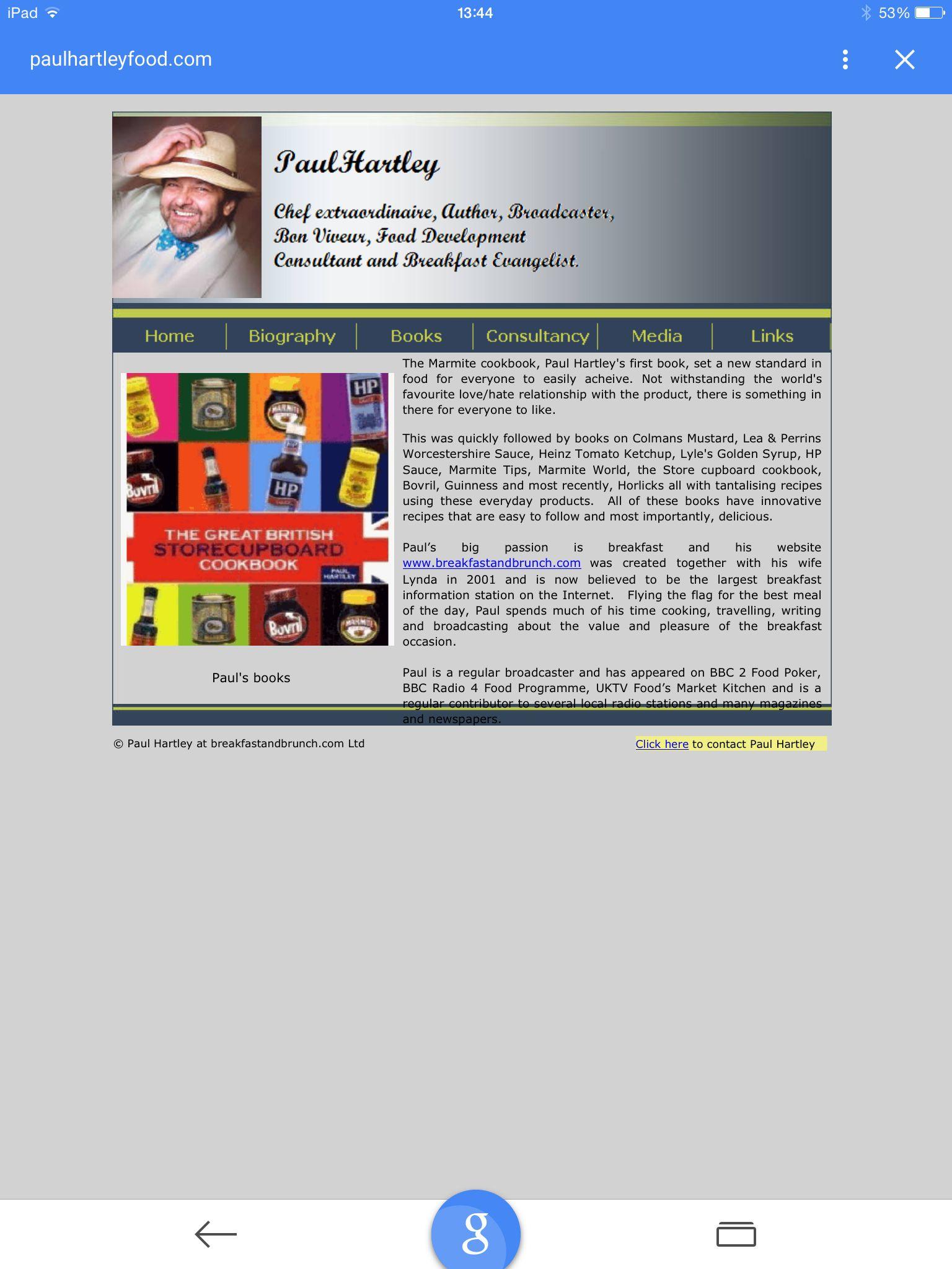 Paul Hartley Store Cupboard Recipes