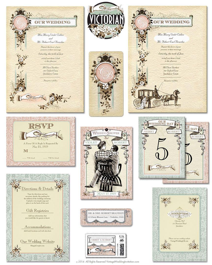 Victorian Wedding Invitation Suite: This Victorian Downton Abbey ...