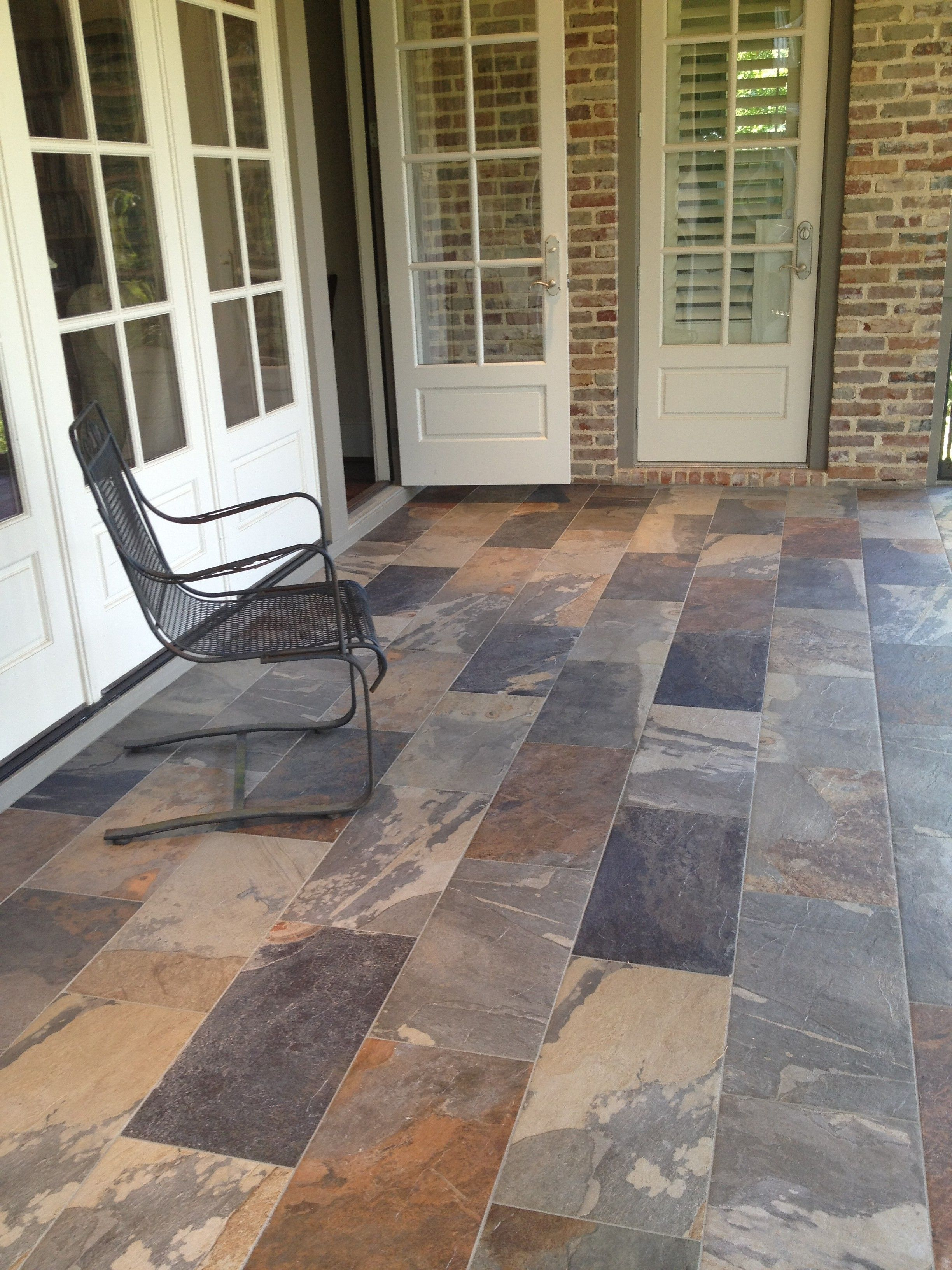 70 Awesome And Beautiful Front Porch Ideas Porch Tile Porch Design Porch Flooring