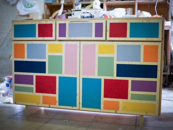 Fare La Credenza : Voglia di colore? questa bellissima credenza plywood mrcstudio su