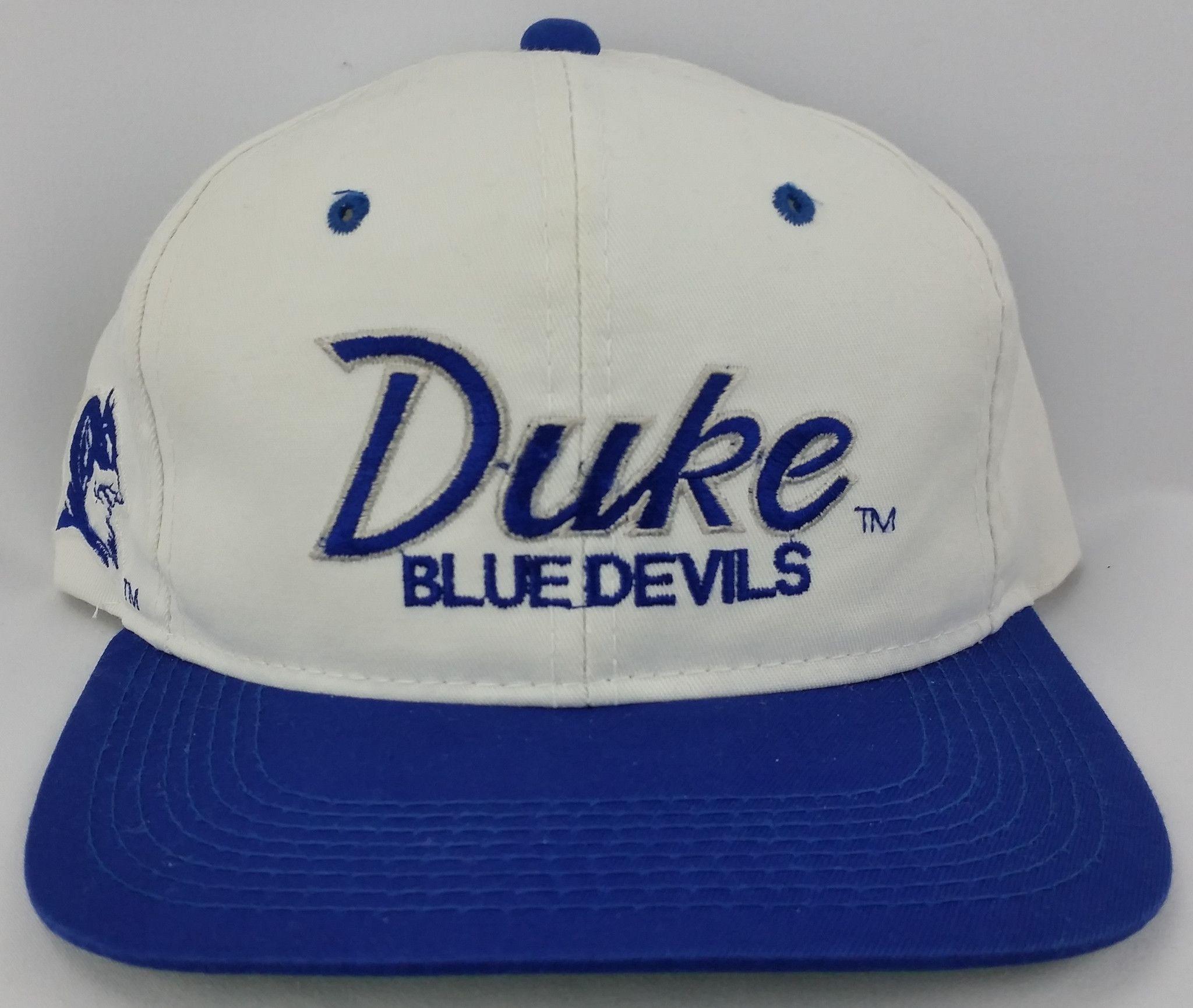 Duke Blue Devils Vintage Snapback Sports Specialties Script Hat NCAA  Basketball e59ca789ba03
