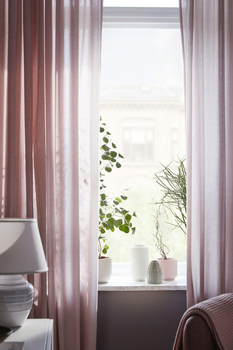 Hannalill Gardinenpaar Rosa Coole Vorhange Rosa Vorhange Vorhange Wohnzimmer