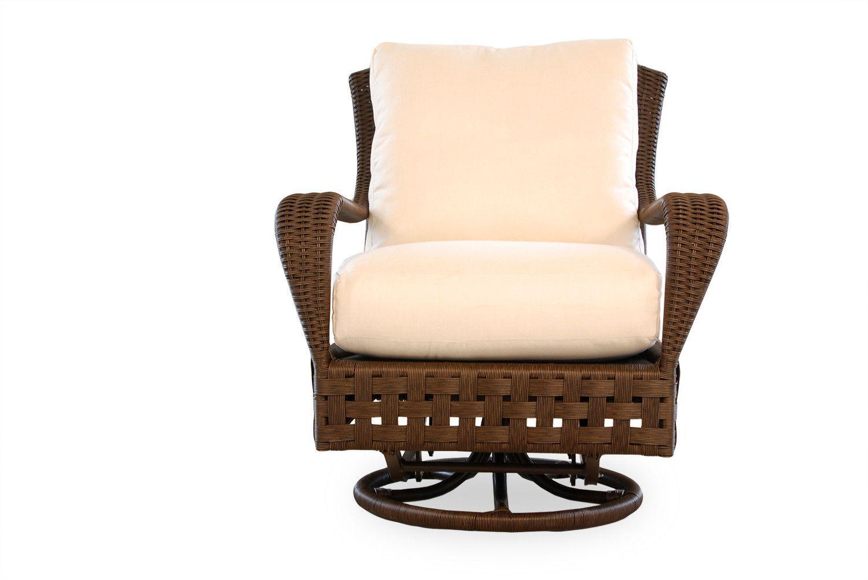 Lloyd flanders haven wicker swivel glider lounge chair