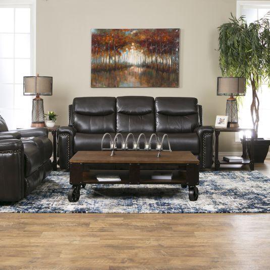 7529e5ac3a Trifecta Reclining Sofa   Reclining Console Loveseat in Brown ...