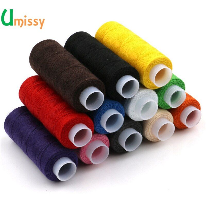 12pcs different colors sewing thread 5g each as DIY sewing thread kit for hand sewing or machine sewing thread.