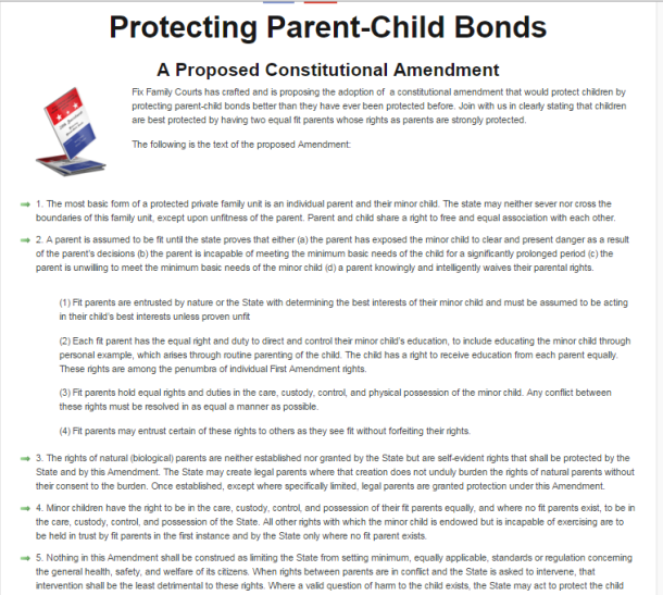 Adopt 28th Parental Rights Amendment To U S Cons Ution