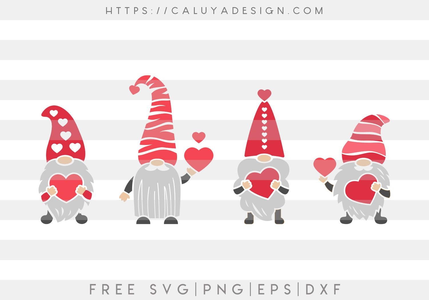 Download Free Loving Gnomes SVG, PNG, EPS & DXF by | Valentine day ...