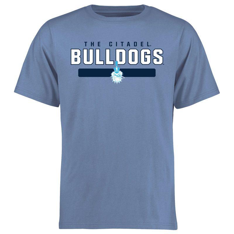 Citadel Bulldogs Team Strong T-Shirt - Light Blue  f46e8bb2e