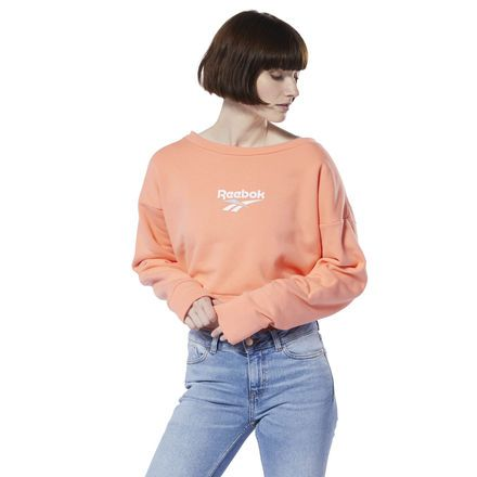 c8b309c31a Reebok Women's Classics Vector Crew Sweatshirt in Stellar Pink Size ...