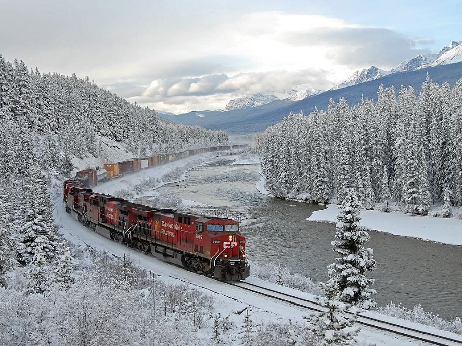 Canadian Pacific Railway, Lake Louise, Alberta, Canada'', Photo by Michael F. Allen, vía art-profiles.com