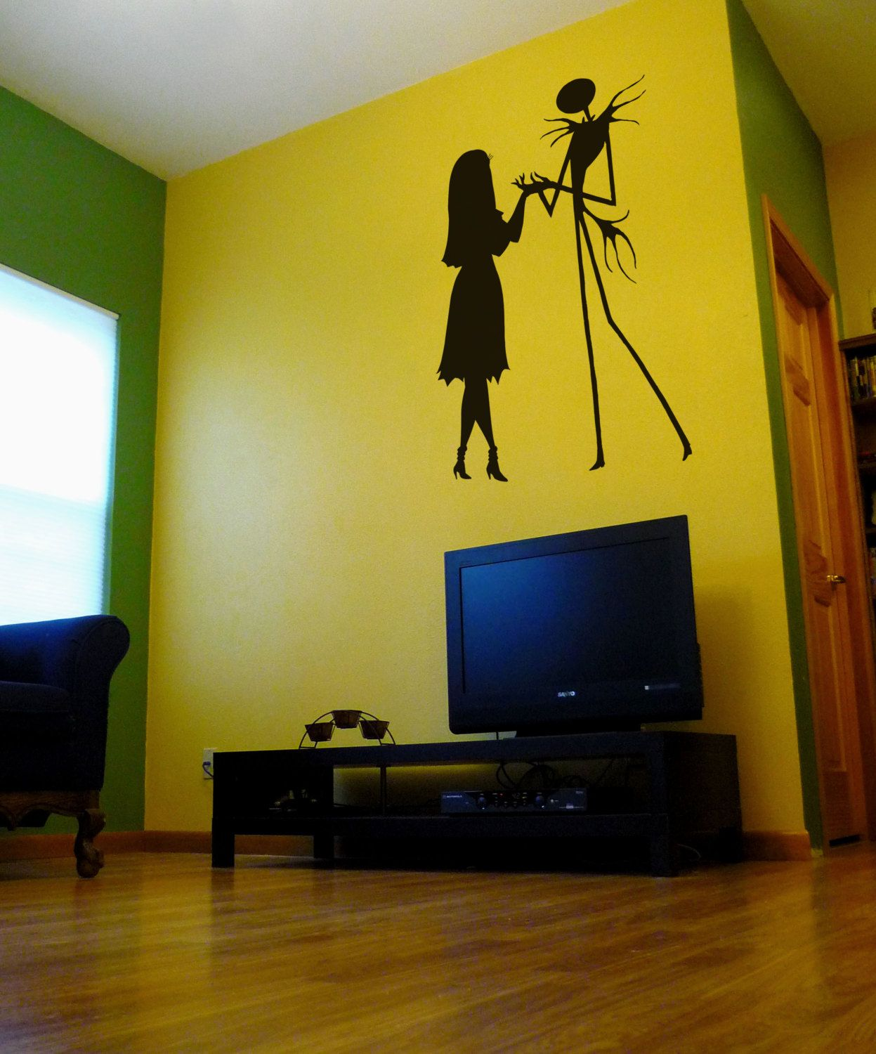 Nightmare Before Christmas Silhouette Wall by TheSomberRaven, $50.00 ...