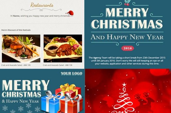 Holiday Responsive Email Theme Responsive Email Responsive Email Template Responsive Theme