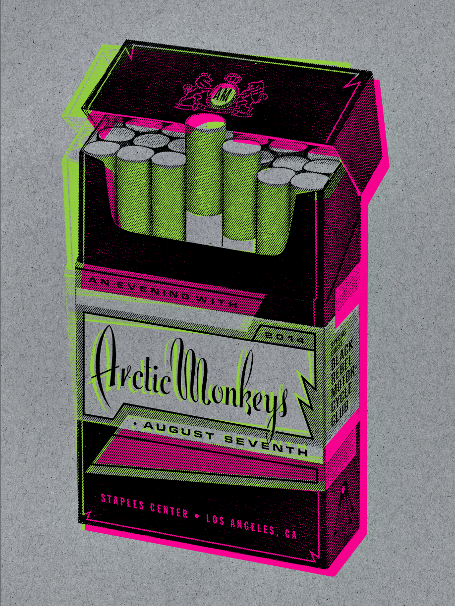 Arctic Monkeys Los Angeles Poster by Kii Arens