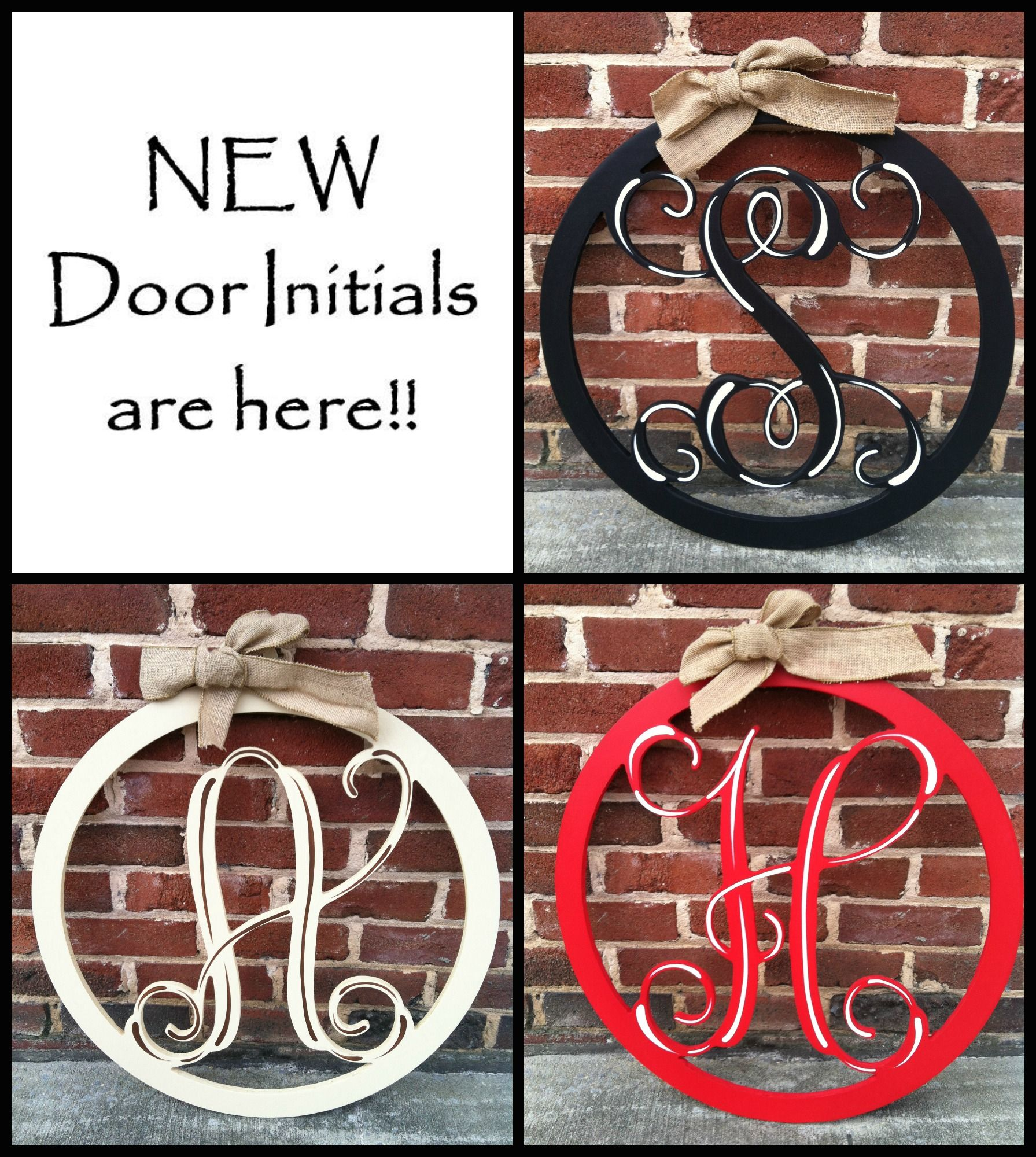 Etonnant New Door Initials Are Beautiful And Available In 3 Colors! Monograms Plus   Cullman,