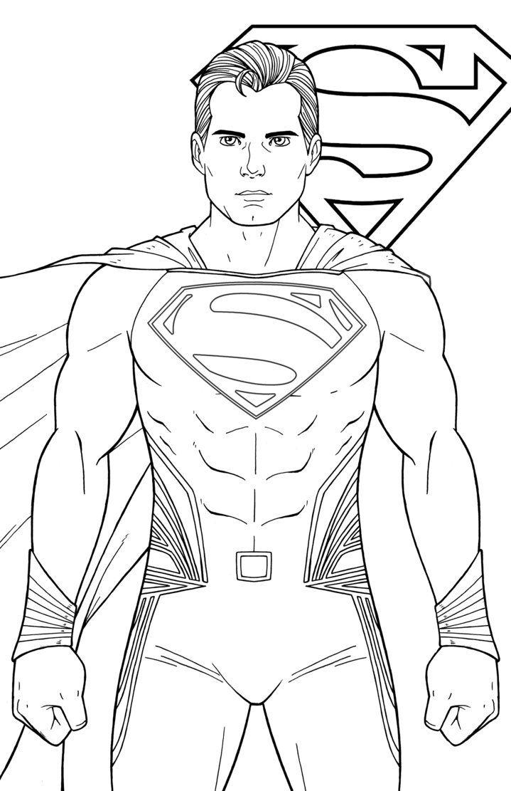 Superman Henry Cavill By Jamiefayx Superman Coloring Pages Superhero Coloring Superman Henry Cavill
