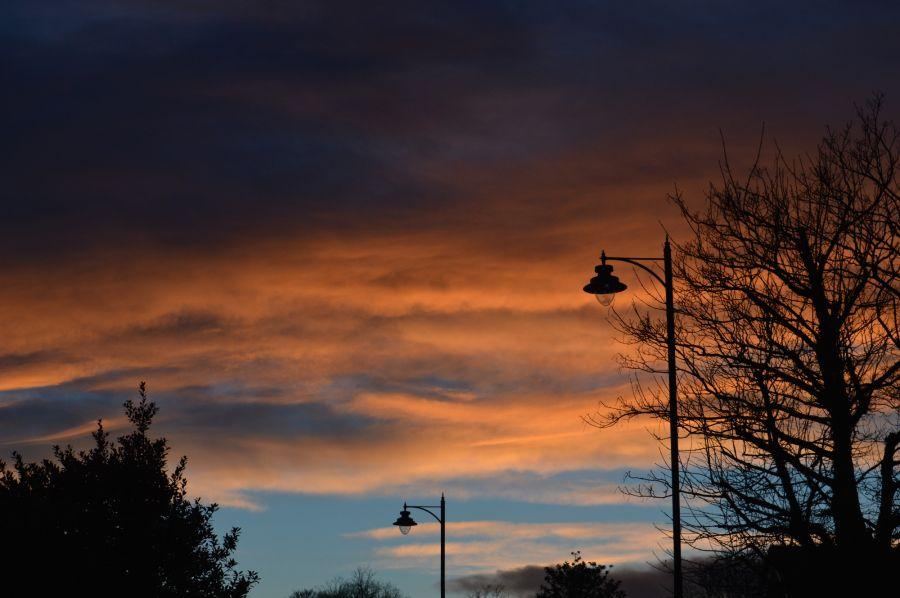 Clouds over Hepburn Park in St Andrews.
