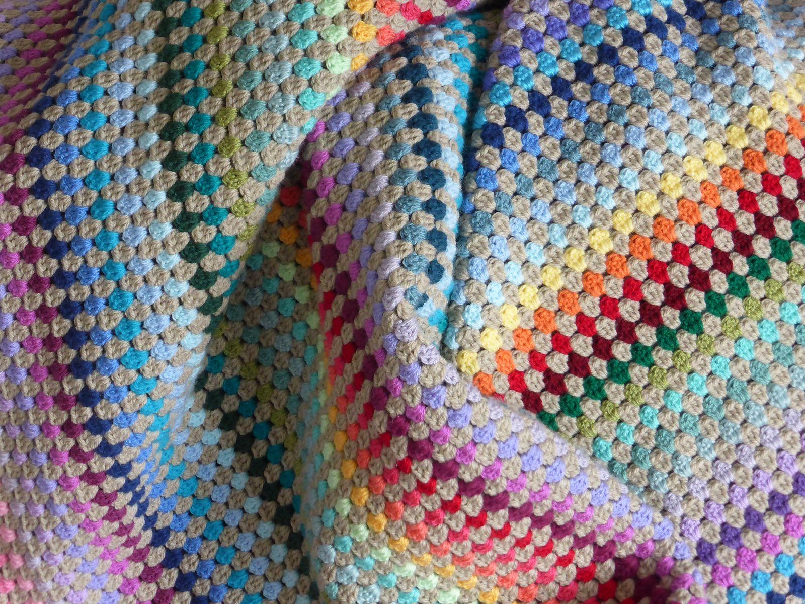 Granny Stripe Blanket Pattern New Design