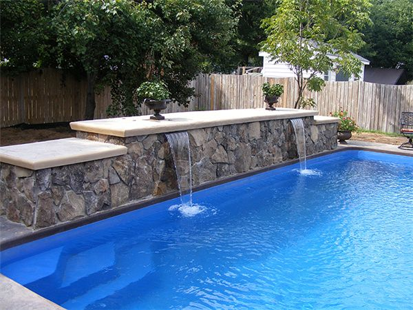 Top 8 Design Trends For Swimming Pool In 2017 Pool Water Features Simple Pool Pool Waterfall
