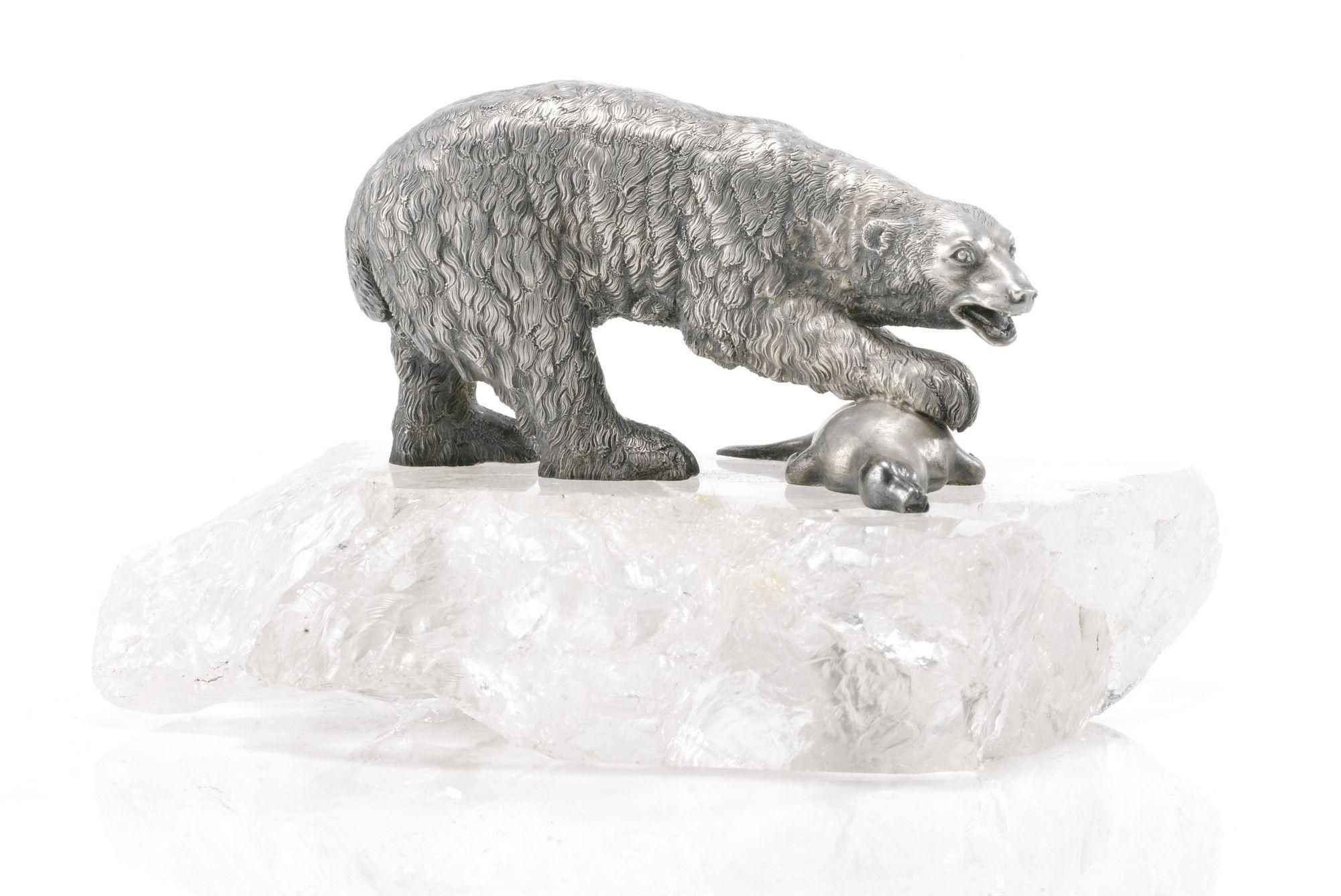 Polar Bear Centrepiece Sotheby S L15026lot7tqjyen Polar Bear Polar Russian Silver [ 1336 x 2000 Pixel ]