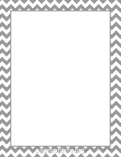 Free Gray Chevron Border Templates Including Printable Border Paper And  Clip Art Versions. File Formats Include GIF, JPG, PDF, And PNG.  Bordered Paper Printable