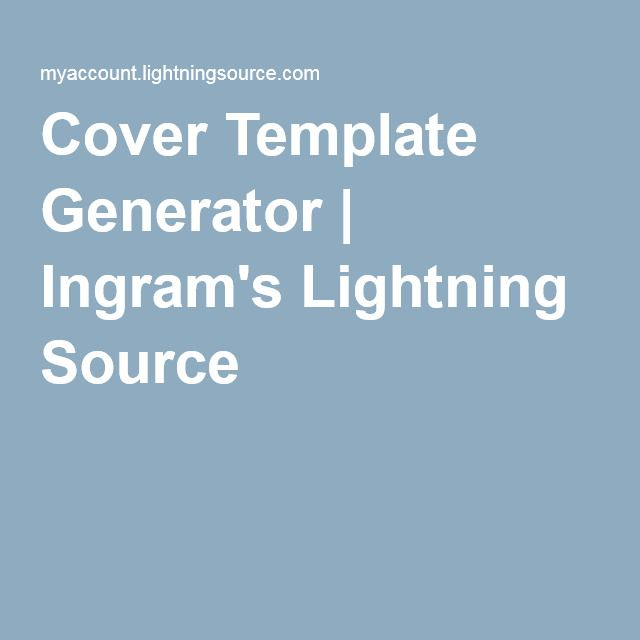 Cover Template Generator Ingrams Lightning Source Writer Tips