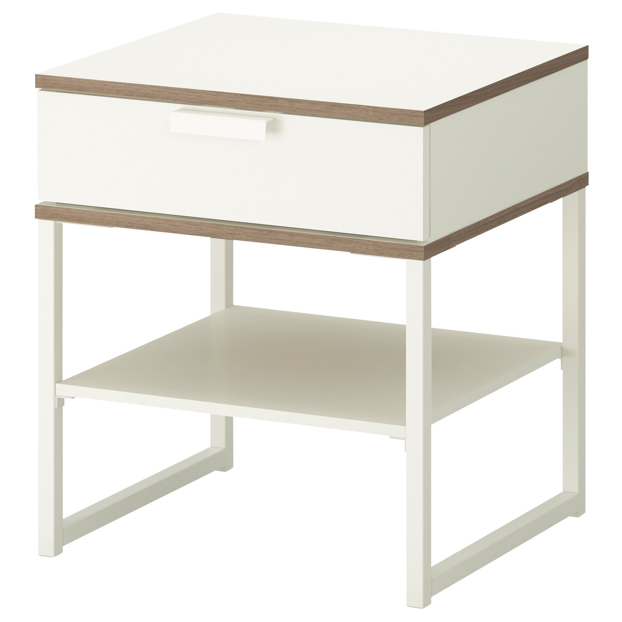 Tables De Chevet Blanches Table Chevet Trysil Blanc Gris Clair Messidor Chambre Table