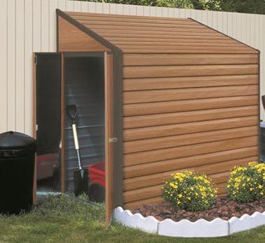 Purchase This Yardsaver 4u0027x7u0027 Woodgrain Arrow Small Outdoor Metal Storage  Shed Kit Today