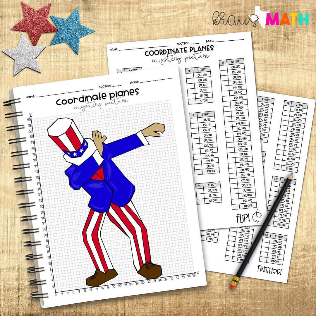 President S Day Dab Coordinate Planes Drawing Activity