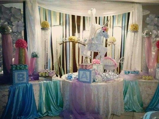 Baby Shower Temas Para Niño ~ Baby shower tema carrusel inspirado en twins niño niña baby