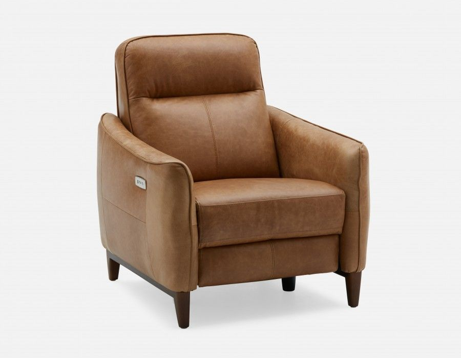 Tremendous Palmer Caramel Power Reclining 100 Leather Armchair With U Ibusinesslaw Wood Chair Design Ideas Ibusinesslaworg