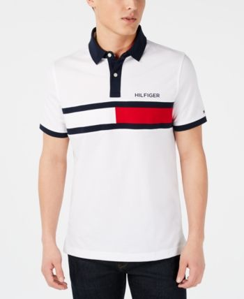 e77d5265 Tommy Hilfiger Men's Big & Tall Logo Graphic Polo, Created for Macy's -  White 4XB