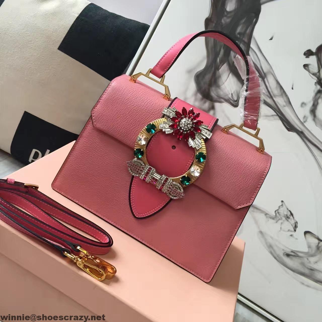 add9178f86b9 Miu Miu Jeweled Buckle Top Handle Bag | fashion women | Bags, Miu ...
