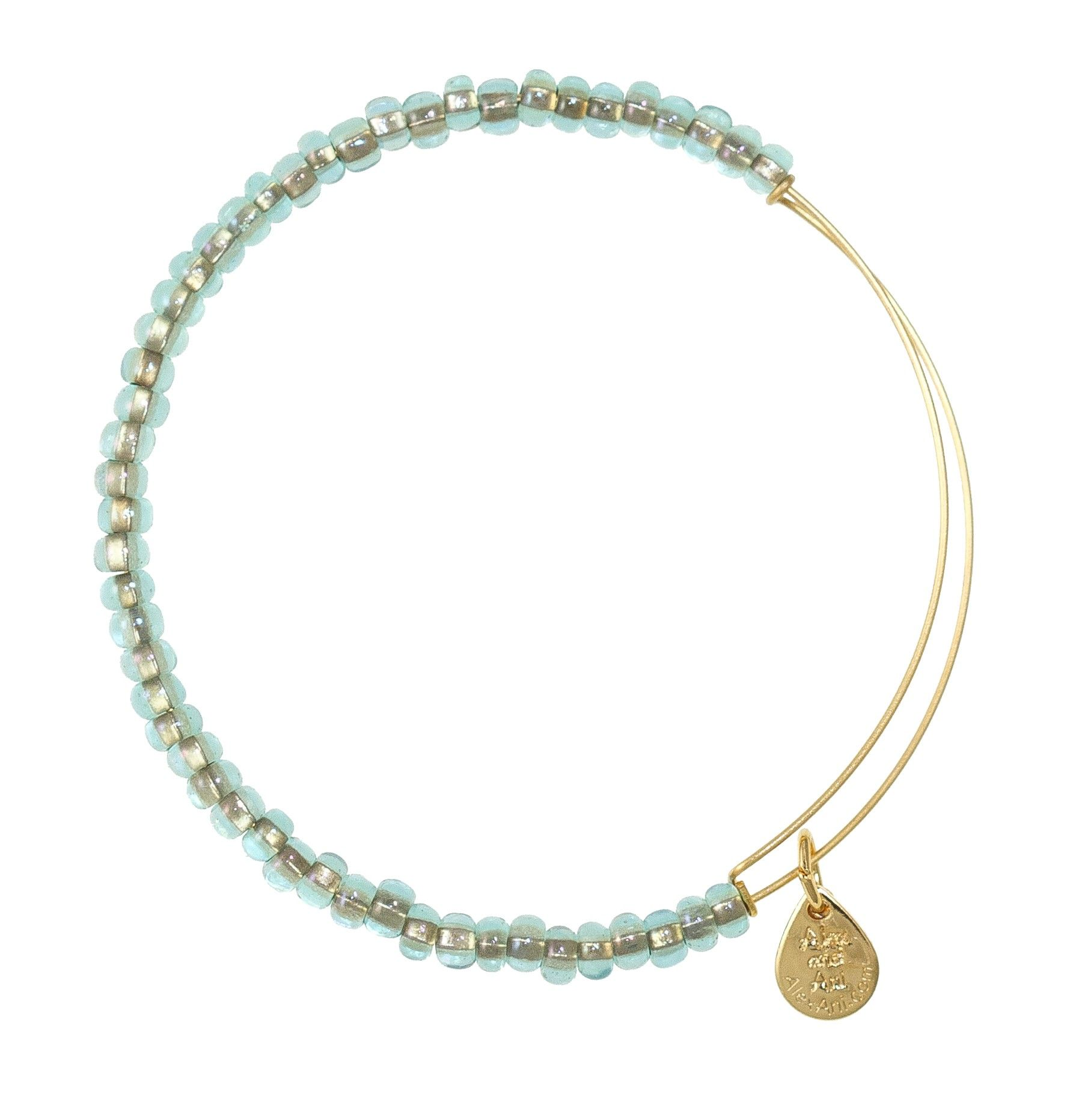 Like wondrous treasures found in the ocean, these sparkling glass beads are sure to inspire the enchantress within. Adorn yourself with the Shimmering Sea Bead Expandable Wire Bangle to pursue your deepest passions and let your inner goddess shine.     Closest color to my birthstone.