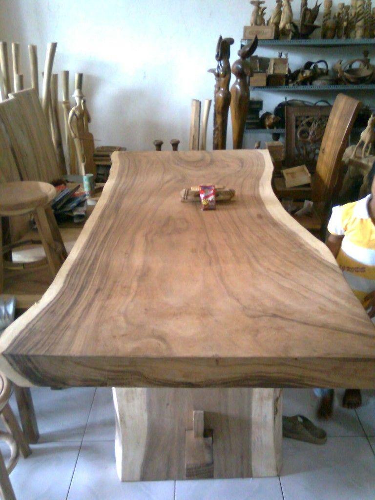 Suar Wood Table Really Like The Idea Of The Live Edge
