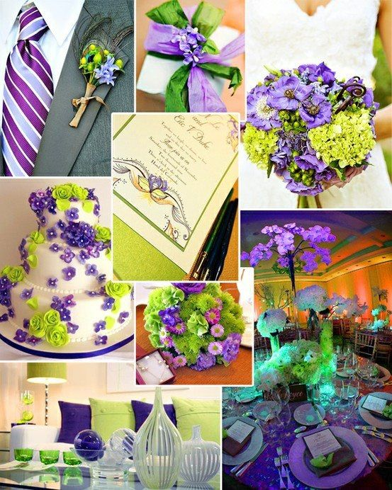 Purple And Green Wedding Ideas Love The Table Just Maybe Not So