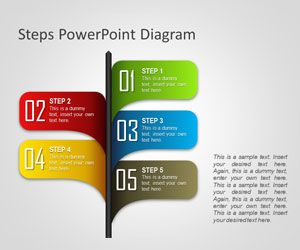 free steps powerpoint diagram is a simple diagram template created