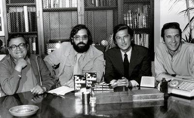 Team Godfather: author Mario Puzo, Coppola, Evans and producer Al Ruddy.