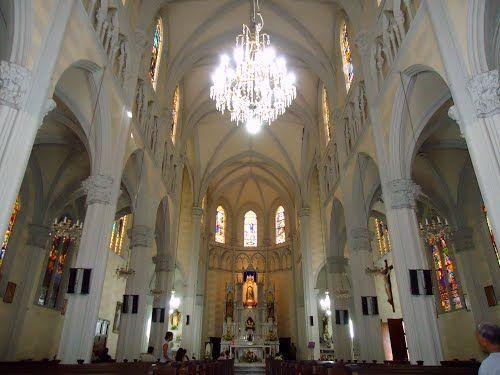 Caracas Vista Del Patio Central De La Iglesia Nuestra Señora De Lourdes San Martín Road Alley