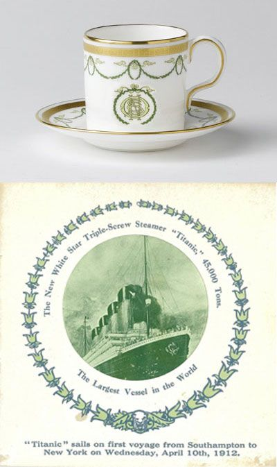 New Royal Crown Derby Titanic Coffee Cup & Saucer