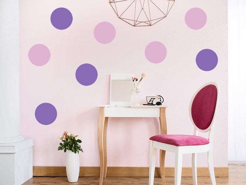 Luxury Ganz einfach die Wand mit Punkten in verschiedenen Farben gestalten Das Wandtattoo Kreative Punkte macht