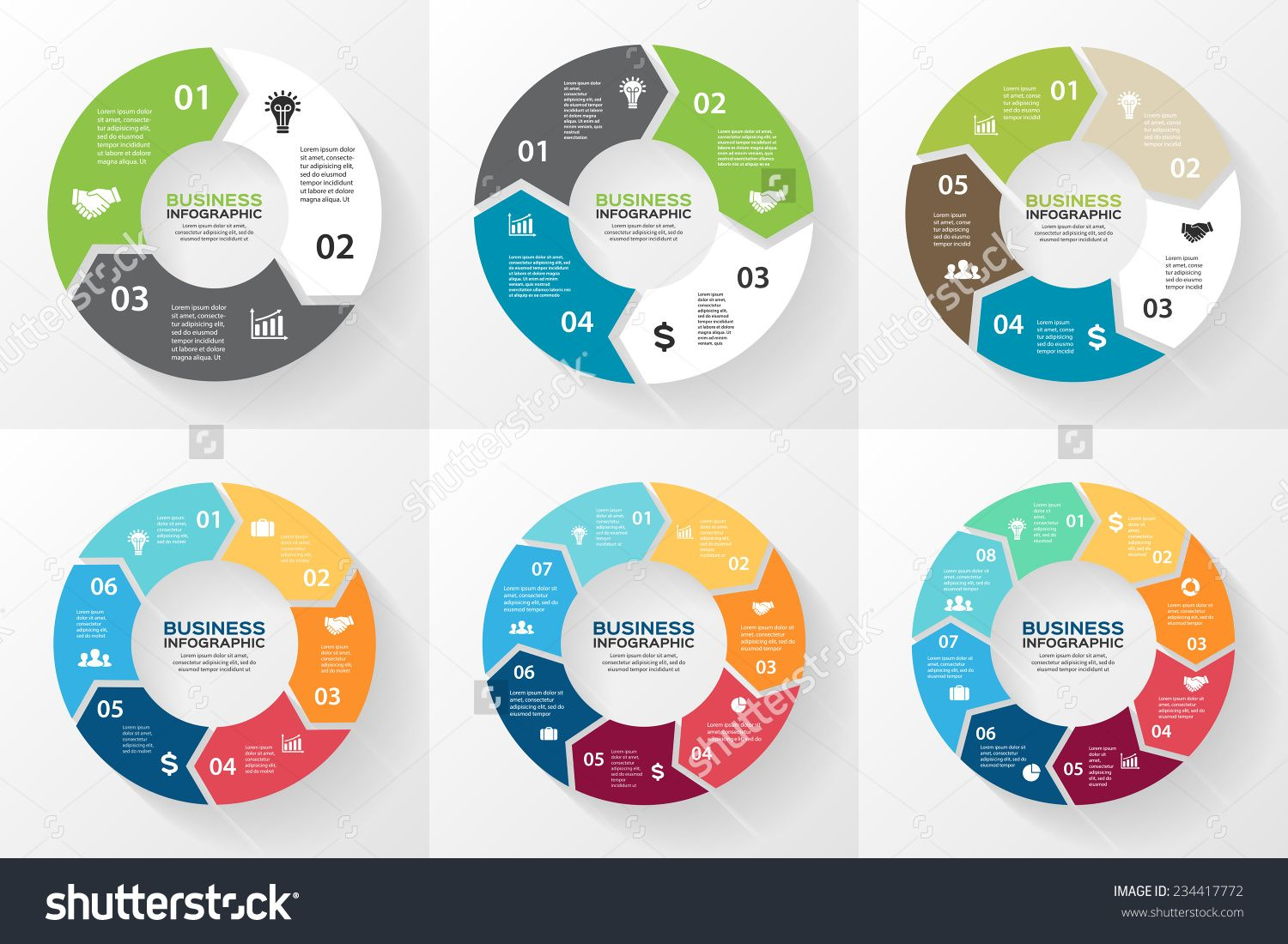 Vector circle arrows for infographic template for cycling diagram vector circle arrows for infographic template for cycling diagram graph presentation and round chart business concept with 3 4 5 6 7 8 options ccuart Image collections