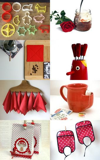 The Red Kitchen by Nichelle Scholz on Etsy--Pinned with TreasuryPin.com