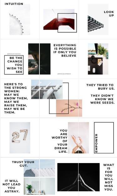 Minimalist Instagram Mosaic Template Wholeco Media Media