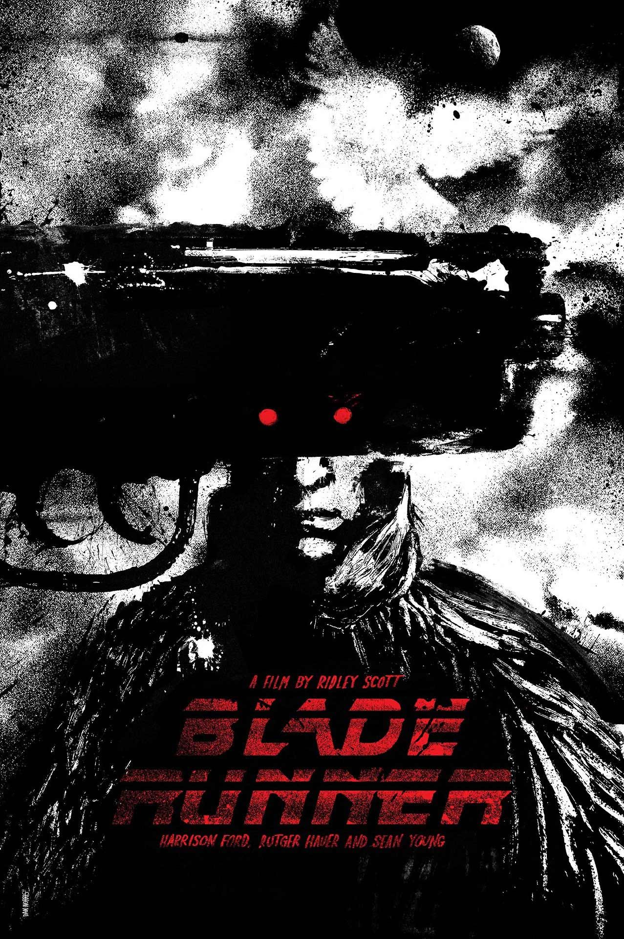 Blade Runner (1982) starring Harrison Ford, Rutger Hauer & Sean Young — new poster by Daniel Norris via http://danielnorris.tumblr.com
