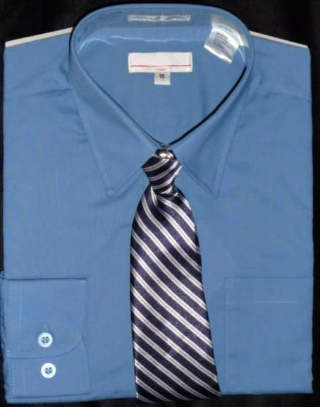 Boys dark blue dress shirt | Boys Dress Shirts | Pinterest | Boys ...