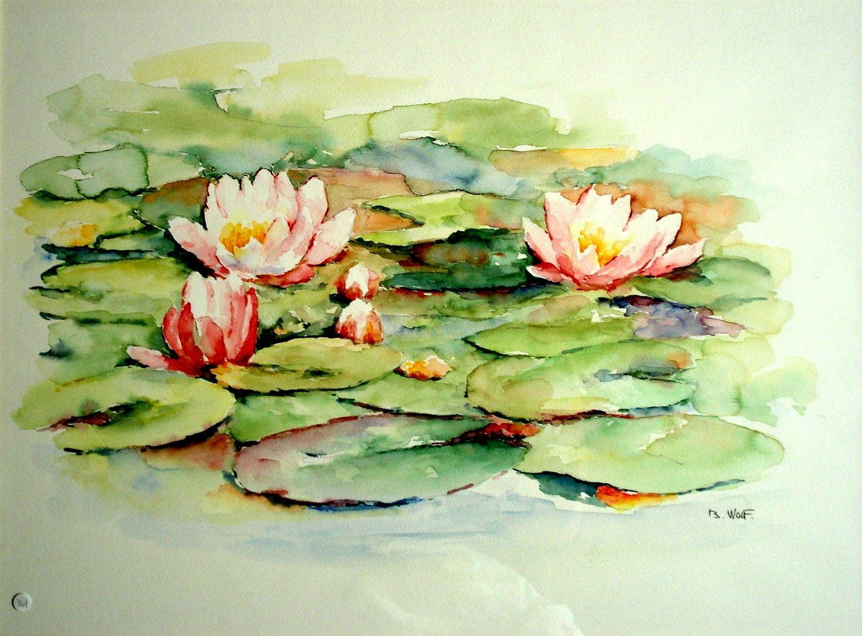 Aquarelle Lotus Avec Images Nenuphar Dessin Lotus Aquarelle