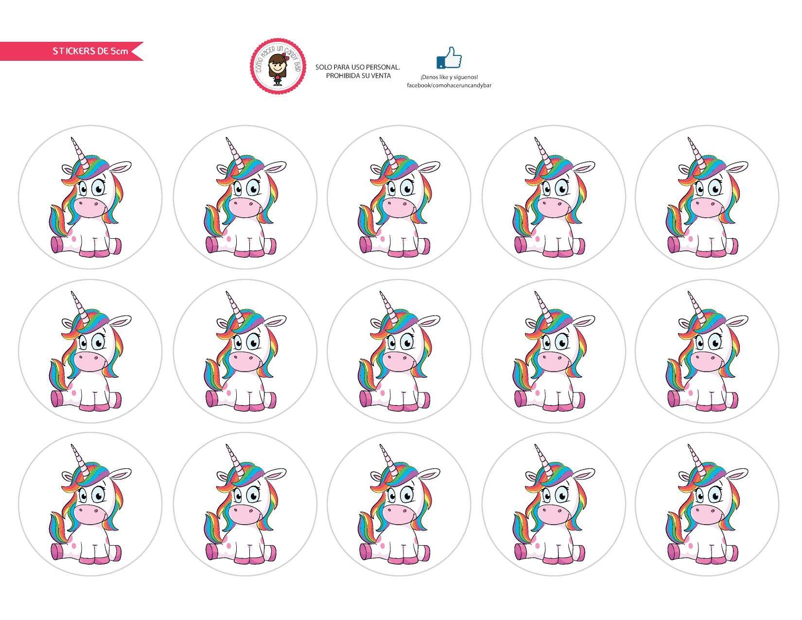 Etiquetas redondas unicornio fiestas infantiles for Imagenes de piletas redondas
